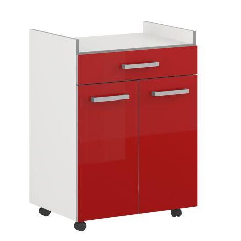 Pixel 1 Schublade & 2 Türen - hochglänzend rot