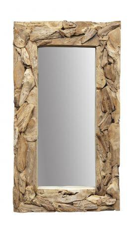 Wandspiegel Root - 160x90 cm - Teakwurzelholz