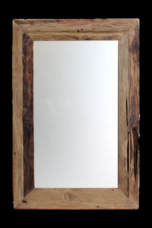 Wandspiegel Rustikal - 90x70 cm - Treibholz Teakholz