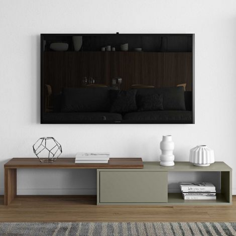 TV-Schrank Movie 110cm - grau/Nussbaum