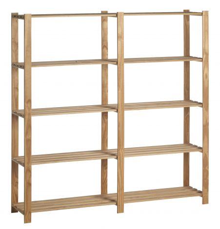 Holzlagergestell doppelt
