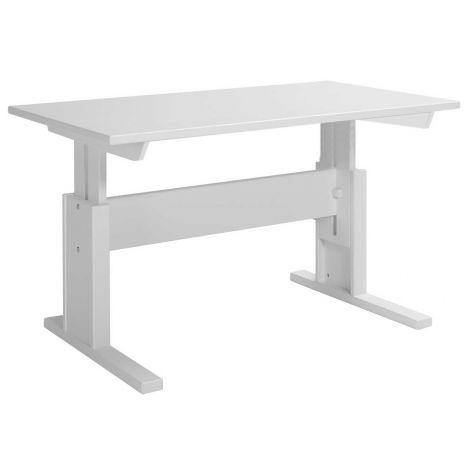 Verstellbarer Schreibtisch Adam 120 cm - weiß