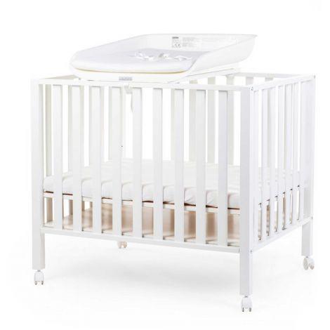 Wickelkommode Evolux mit Wickelauflage für Kinderbett/Laufstall - weiß