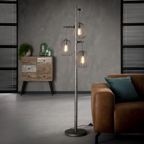 Stehlampe 3L lampoon - Alt Silber Finish