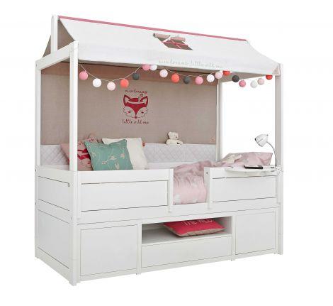 Wild Child Kabinenbett mit Aufbewahrungsmodul und Dachkonstruktion