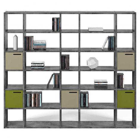 Pombal Bücherregal 30 Fächer - Beton