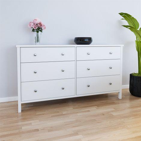 Dresser TROMSÖ 024 - Dresser with 6 drawers - WHITE