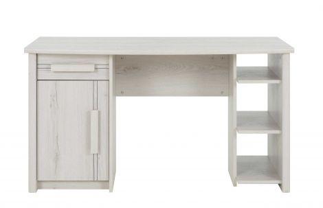 MONTANA - Bureau 1 porte 1 tiroir Chêne Helvézia blanchi