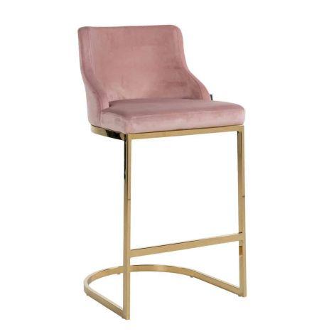 Barhocker Barbosa velours - rosa