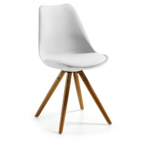 Stuhl Ralf Holz/Kunststoff - weiß