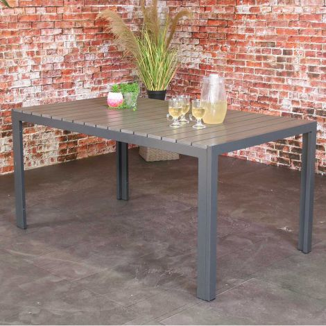 Gartentisch Jersey 160x90 - grau