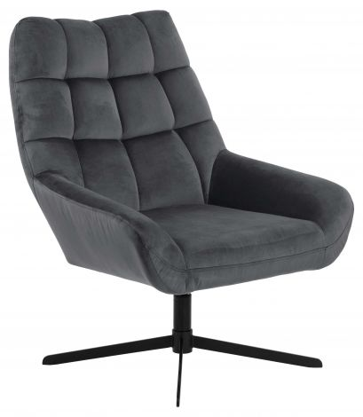 Paris swivel chair - black, dark grey