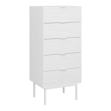 Dresser SOMA 005 - Dresser with 5 drawers - WHITE/WHITE