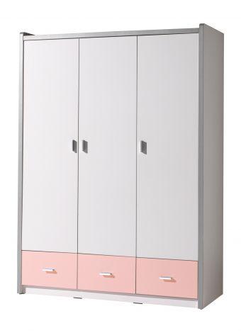 Kleiderschrank Bonny 3 Türen - rosa