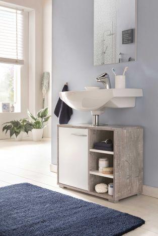 Waschtischunterschrank Benny - Weiß/Beton