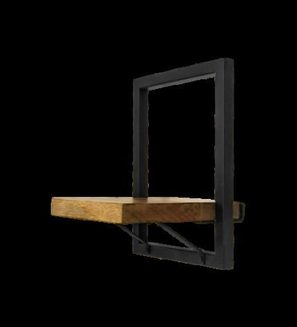 Wandregal Levels 25x32cm Mango-Holz/Eisen