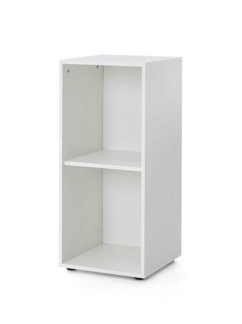 Serie Maxi-Office, Regal schmal mit 2 Fächern - Weiß Dekor