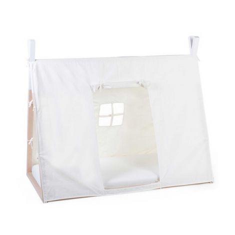 Schlafzelt für Tipi-Kleinkindbett 70x140cm - weiß