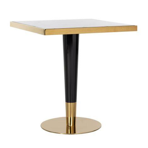 Bartable Osker 70x70 - gold/weiß