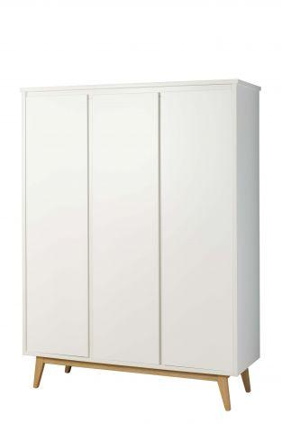 Kleiderschrank Pure 3 Türen - weiß