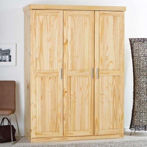Kleiderschrank Leon mit 3 Türen - natur