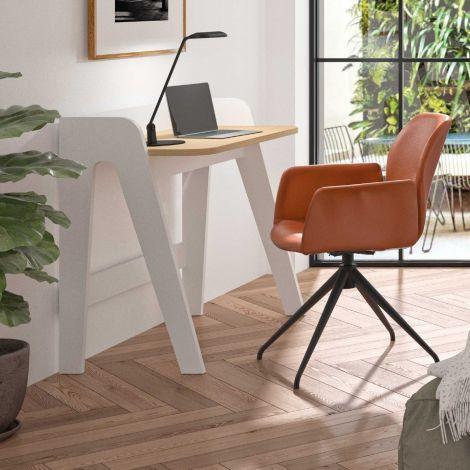 Schreibtisch Fiore 91cm - weiß/Eiche