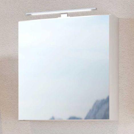 Spiegelschrank Dasa 60cm mit 1 Tür - weiß