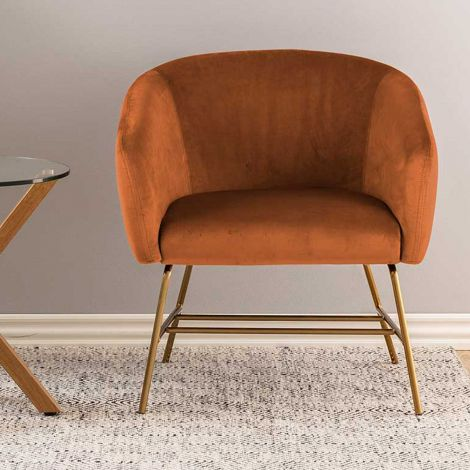 Ramsey resting chair - brass, copper