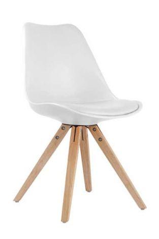 Set mit 2 Stühlen Lady - weiß