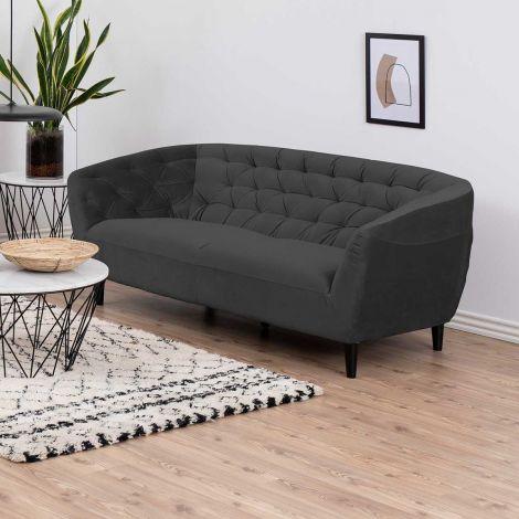 3-Sitzer Sofa Isiah 191cm - dunkelgrau