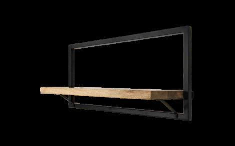 Wandregal Levels 70x32cm mangoholz/eisen