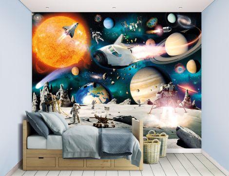 Kindertapete Weltraumabenteuer
