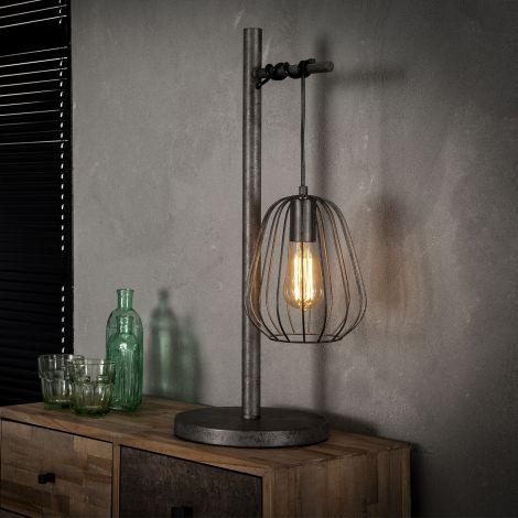 Tischlampe 1L lampoon - Alt Silber Finish
