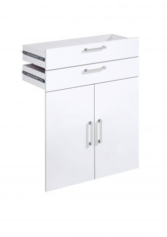 2 Schubladen und 2 Türen Gabi - Hochglanz weiß