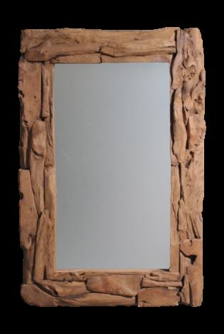 Wandspiegel Root - 120x80 cm - Teakwurzelholz