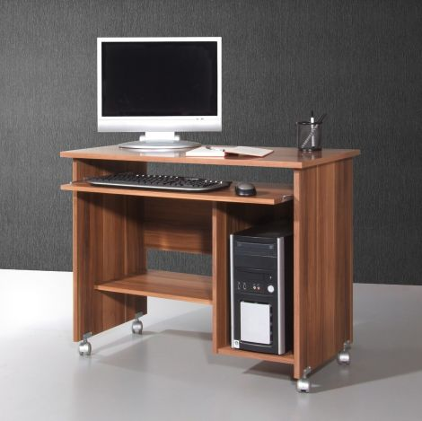 Norbert 90cm Schreibtisch - Nussbaum