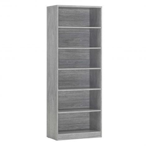 Bücherregal Spacio 72cm mit 5 Einlegeböden - Eiche grau