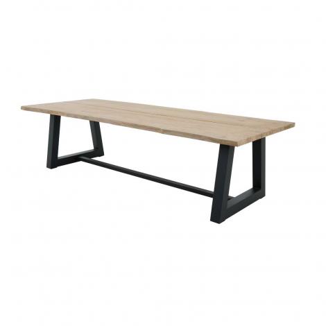 Gartentisch Simeon 280x100 - teak/schwarz