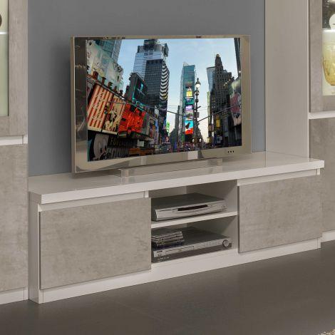 TV-Schrank Roma 150cm - weiß/Beton