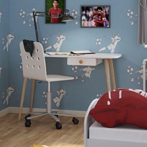 Desk GAIA - Desk with 1 drawer - EXTRA WHITE