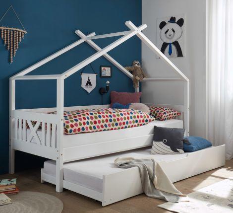 Hausbett Leona 90x200 - weiß