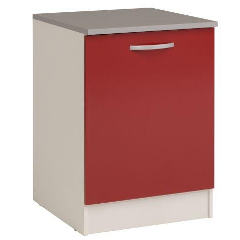 Unterschrank Eko 60 cm mit Tür - rot