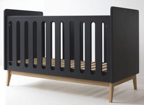 Kleinkinderbett Pure 70x140 - schwarz