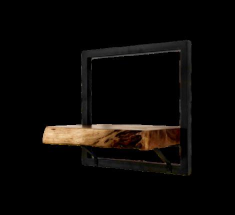 Wandregal Levels Live Edge 32x32cm Akazie/Eisen