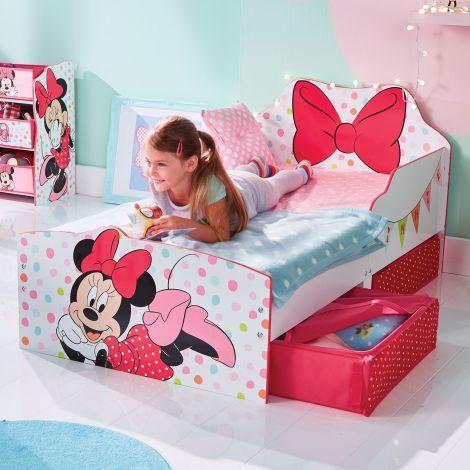 Kleinkindbett mit Schubladen Minnie Mouse
