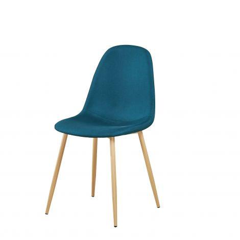 Satz mit 4 Stühlen Yo - blau