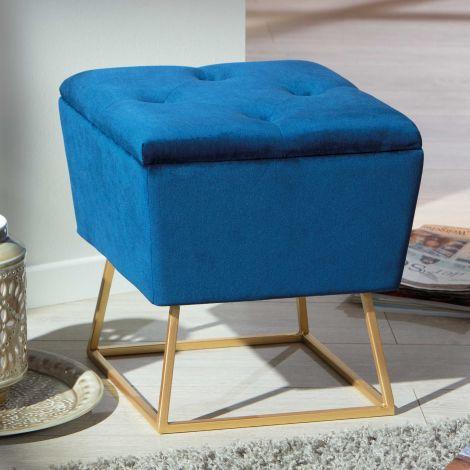 Fußhocker Surin - blau