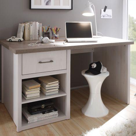 Schreibtisch Larnaca 141cm mit 1 Schublade - weiß