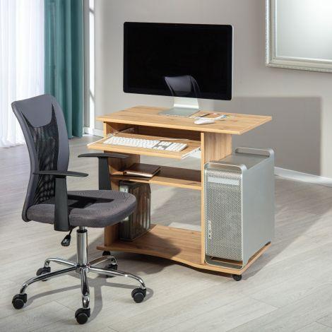 Computertisch auf Rädern Janus 80cm - Eiche artisan