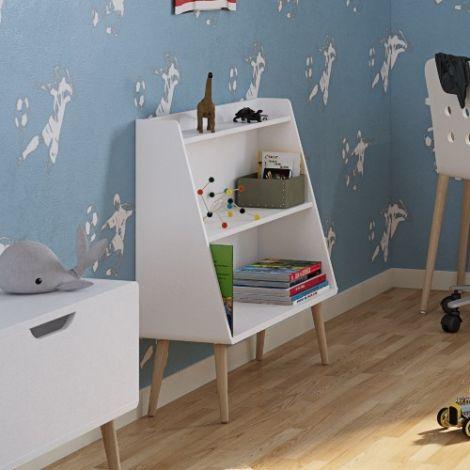 Bookcase GAIA - Bookcase with 3 shelves - EXTRA WHITE